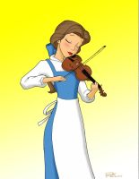 Belle Playing the Violin by Anime-Ray