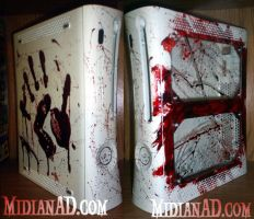 Bloody Xbox 360 Case by midianad
