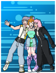 Commission: Riku, Marluxia, and Gab by BunnyGirl103