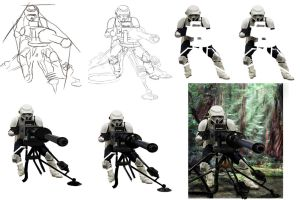Star Wars :Scout Trooper WIPS by DookieAdz