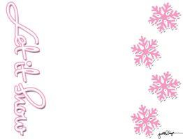 Let it Snow...Pink n White by sailorssweetheart