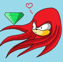 Knuckles made in paint by princesayuuki