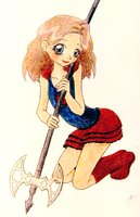 some loli with an axe by chibichobit