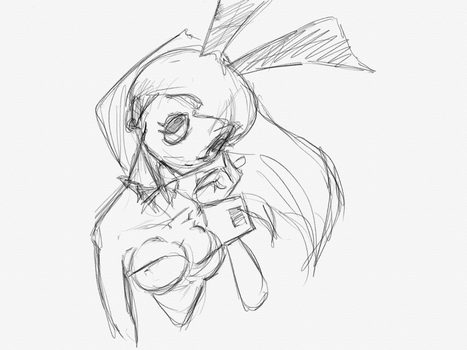 Bunny  Doodle by Jhouchin2