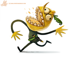 Daily Paint #980. Lemongrab (FA) by Cryptid-Creations