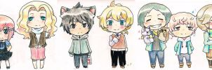 Group Chibi by fuanteinaa