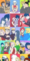 Naruto Couples by ashflura