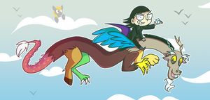 Loki and Discord by ecokitty