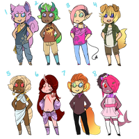 Misc Adopts -2,3 AND 7 LEFT- by DeerestHammy