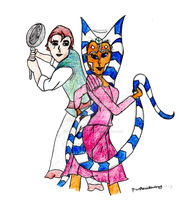 Ahsoka and Anakin in Tangled - Entry for Lady-Anak by PurpleWillowTrees