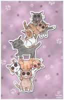 The Leaning Tower of KITTENS by Kittensoft