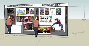 comic booth at 3rd arts fest by popazrael