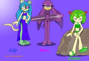 Have a nice Summer - Lily, Wave, and Cosmo by MasterEni2009