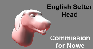 English Setter Playable Head Commission by Some-Art