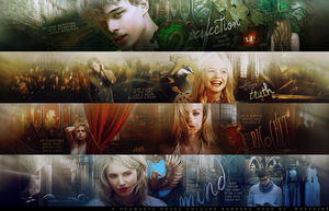 Hogwarts Houses Banners by morphine16