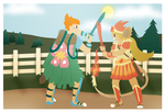 HPM-- Sword Fighting Festival Collab by kay-kitty-smiles