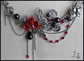 Dark passion necklace. detail by JSjewelry
