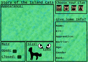 Story Of The Island Cats Reference Sheet by GiggleKittyx3