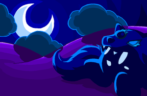 Wolf Looking at the Moon by PineappleSodaCat