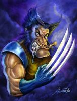 wolverine caricatura by andrebdois