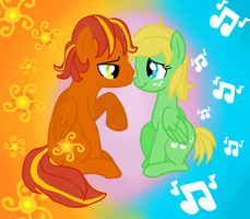 Sunburst Lullaby vector by KisaShika