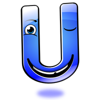 Smiley Alphabet - U by mondspeer