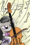 Octavia, herself and her cello by PoisonicPen