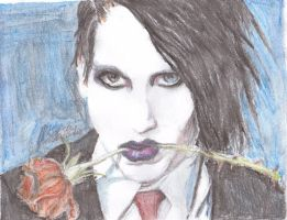 Marilyn Manson 2 colored by Qtfiddler