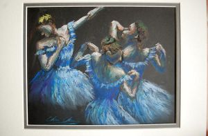 Degas' Blue Dancers by FrostedFlakes62