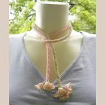 Pink Green Flower Lariat by sweetdream20