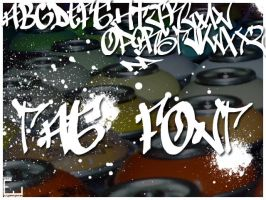 graffiti tag font by whyehate