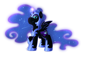 Filly Nightmare Moon by secret-pony