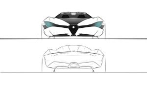 Alfa Romeo 4 door sketches by dyrborgdesign