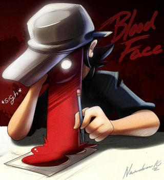 Blood face by nancher