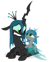 Commission: Chrysalis and Pupa by ZuTheSkunk
