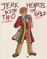 Sixth Doctor - Jerk with Two Hearts of Gold by BeckHop