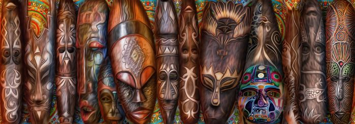 African masks by exobiology