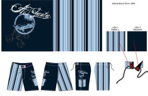 ATLANTA BEACH SHORT 08 STRIPE by digitalgenital