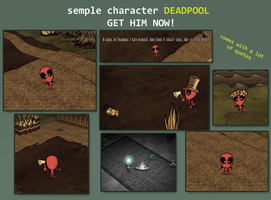 DEADPOOL Don't Starve character by Foxygene