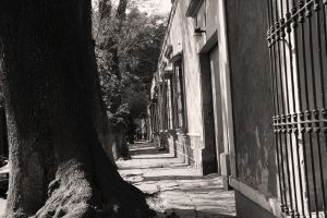 Empty street by deliquescing