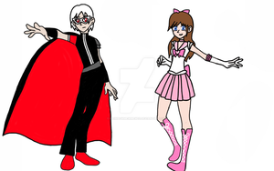 Masked Panther and Sailor Rose by rainbowmewmew13