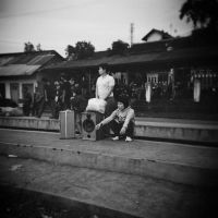 Waiting for The Train... by thesaintdevil