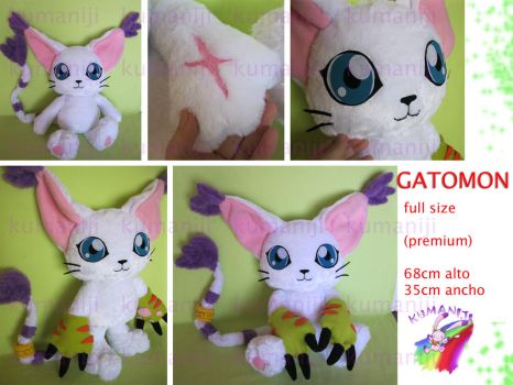 Gatomon Tailmon plush full size 2 by chocoloverx3