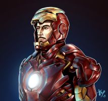 Tony Stark by Esthiell