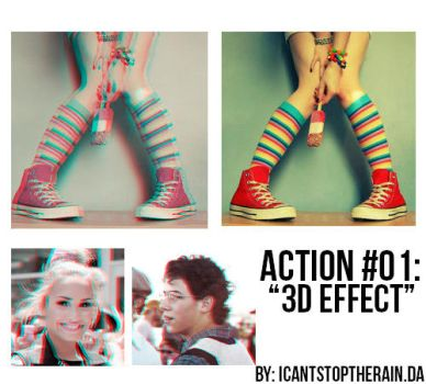 Action 01 3D effect by ICantStopTheRain