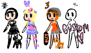Girls With Pets 15 pt adopts {open} by JuneWW