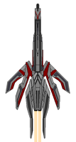 Mass Effect Turian Crescent Class Cruiser by Seeras