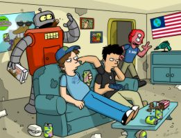 Futurama Roomies by Finfrock