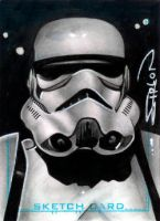 Stormtrooper Sketch Card by RandySiplon