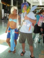 Kida and Rainbow Dash by xAleux